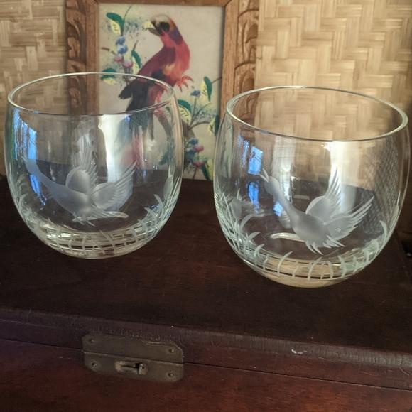 Vintage Roly Poly Cocktail Glasses set of 2